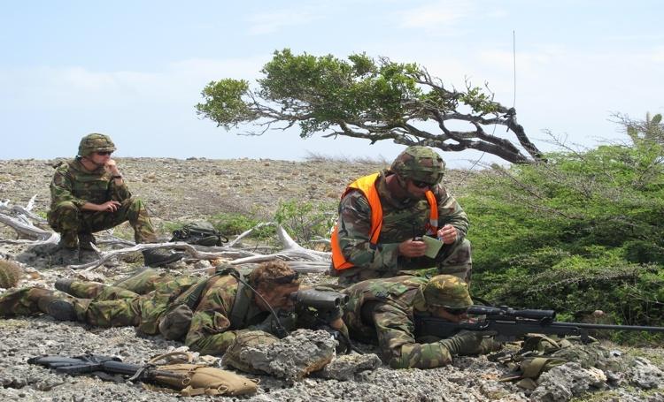 Mariniers van Aruba voor oefening op Curaçao