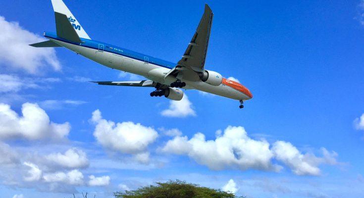 KLM 'Orange Pride' voor de eerste keer op Aruba