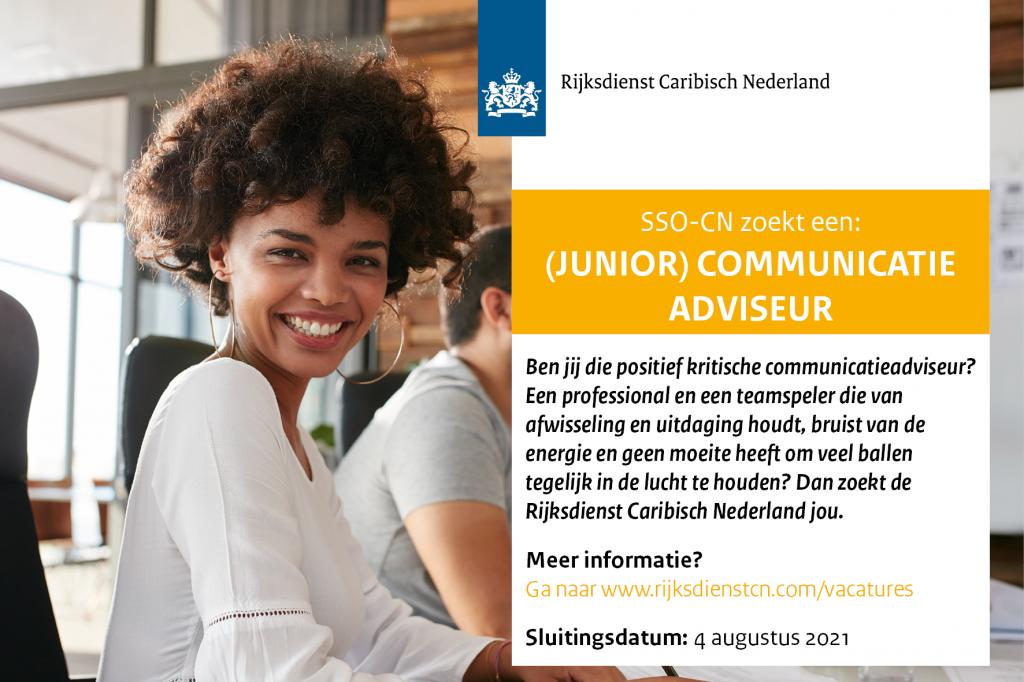 Vacature (Junior) Communicatie Adviseur Bonaire